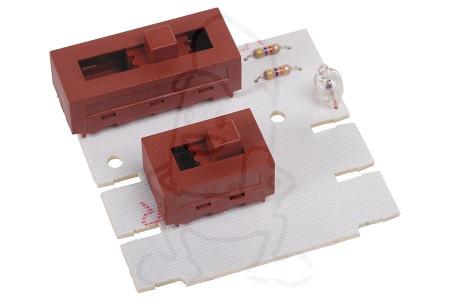 Placa circuito impreso (Posiciones + luz encendido/apagado) campana extractora 481921478247